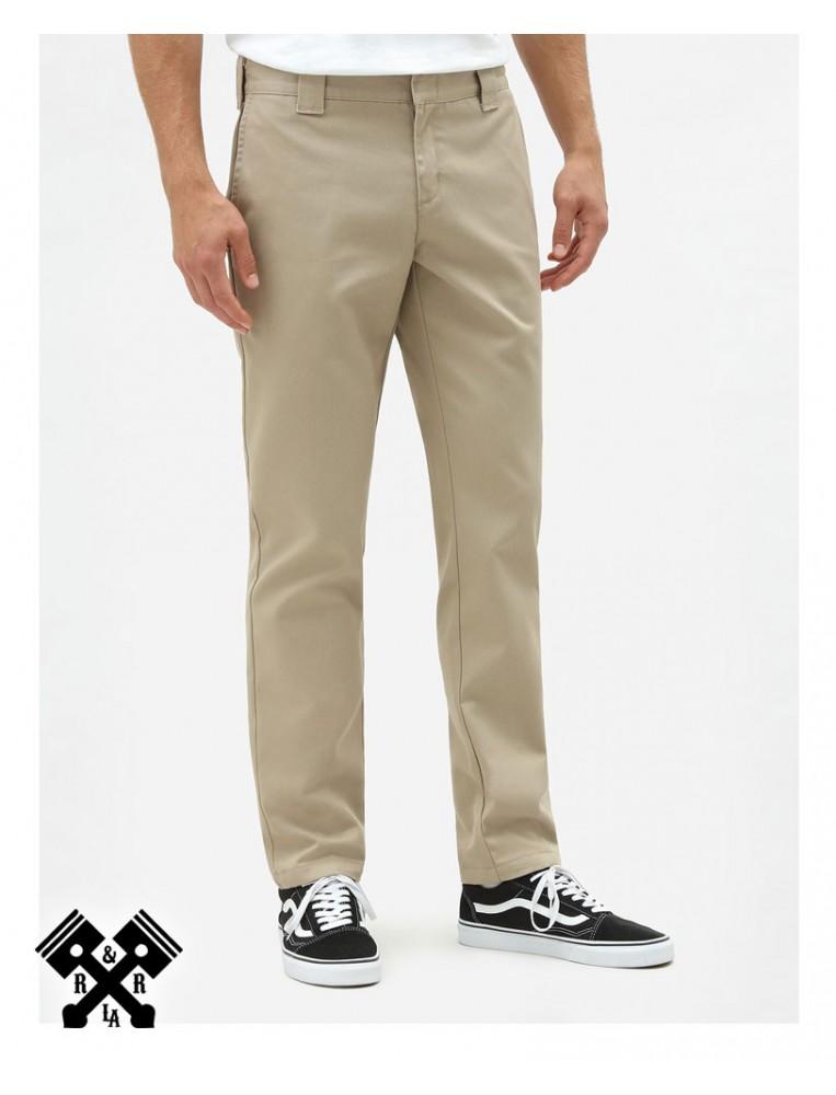 Dickies Slim Fit 872 Khaki Pants, front