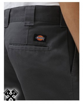 Dickies Slim Fit 872 Charcoal Grey Pants, back detail