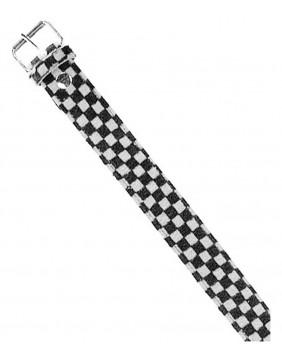 Darkside Checkerboard Fur Belt