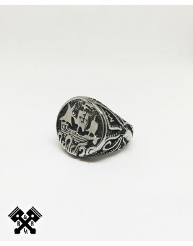 Anillo Acero Vikingo, frontal