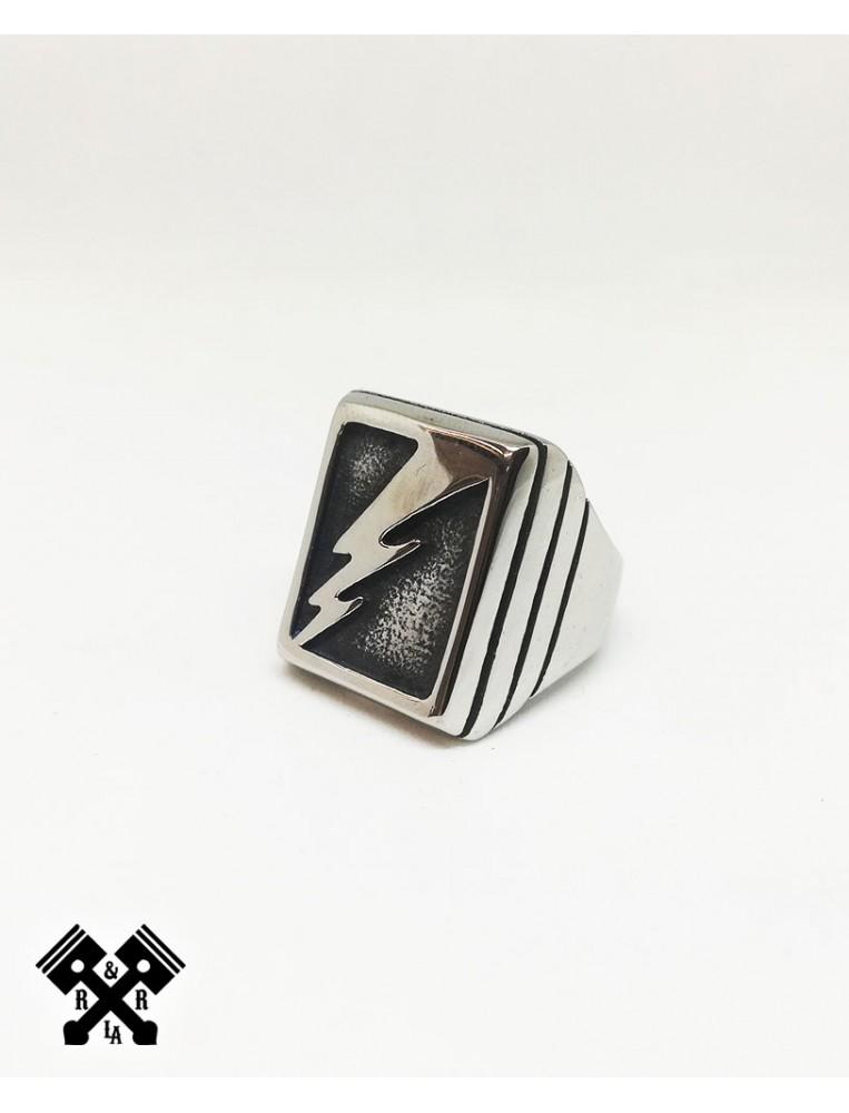Lightning Steel Ring, front