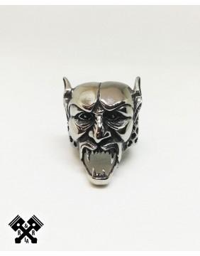 Anillo Acero Demonio, frontal