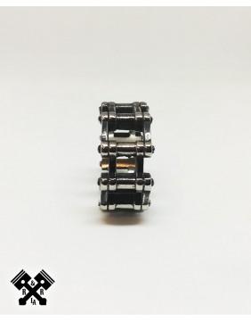 Wide Bike Chain Steel Ring, profile view