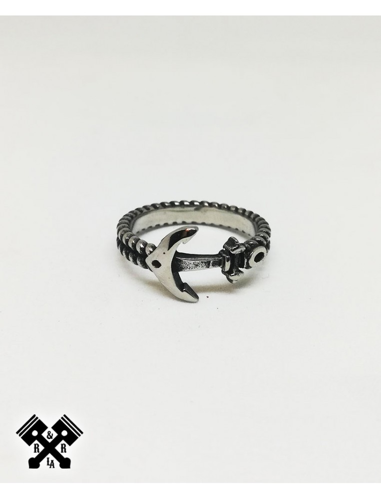 Simple Anchor Steel Ring, front