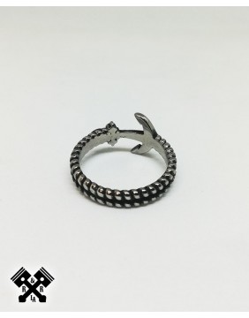 Simple Anchor Steel Ring, back