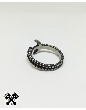 Simple Anchor Steel Ring, diagonal