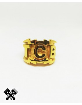 """TCB"" Steel Golden Ring"