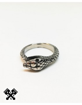 Snake Steel Ring, front