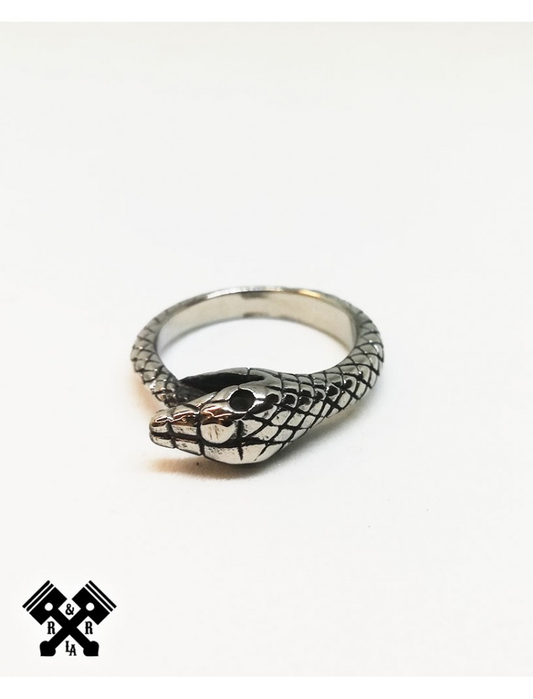 Snake Steel Ring, front