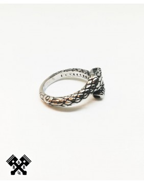 Double Snake Steel Ring, right