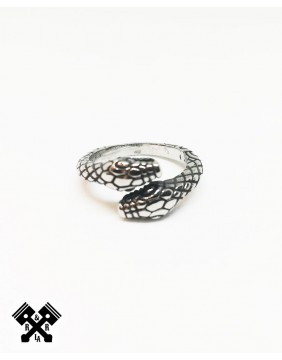 Double Snake Steel Ring, front