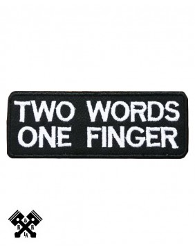 Parche Two Words One Finger