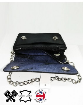 Unisex Small Biker Wallet, inside