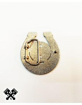 Lady Luck Belt Buckle, back