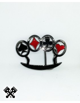 Poker Knuckles Belt Buckle, front