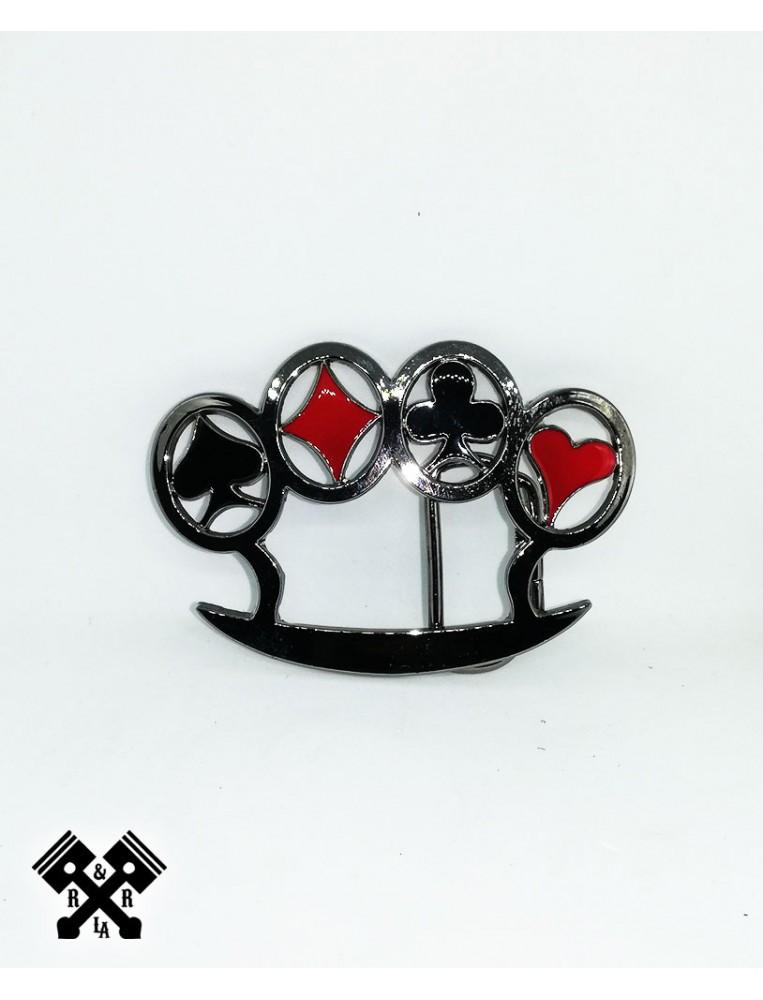 Poker Knuckles Belt Buckle, front