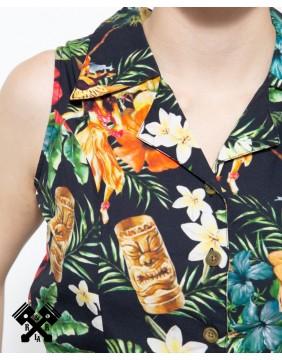 Mono Tropical Vintage marca Queen Kerosin, pecho