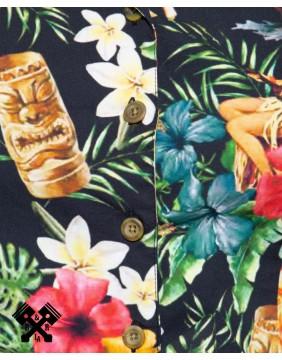 Queen Kerosin Vintage Tropical Jumpsuit, print