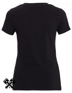Camiseta Negra Queen Kerosin, We can do it, espalda