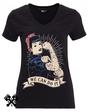 Queen Kerosin We can do it black T-shirt, front