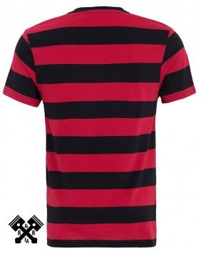 Camiseta a rayas clásica marca King Kerosin, espalda