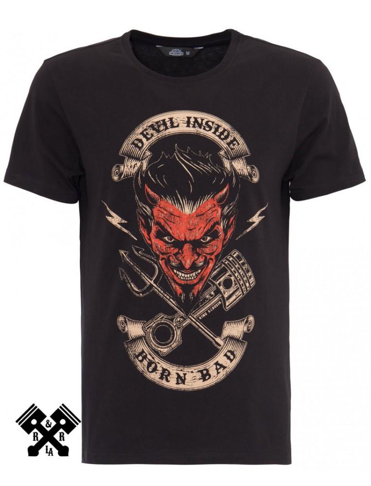 camiseta Devil Inside de King Kerosin, frontal