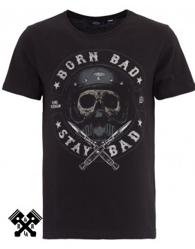Camiseta Born Bad de King Kerosin, frontal