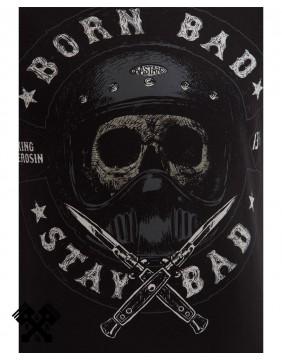 Camiseta Born Bad de King Kerosin, impresión