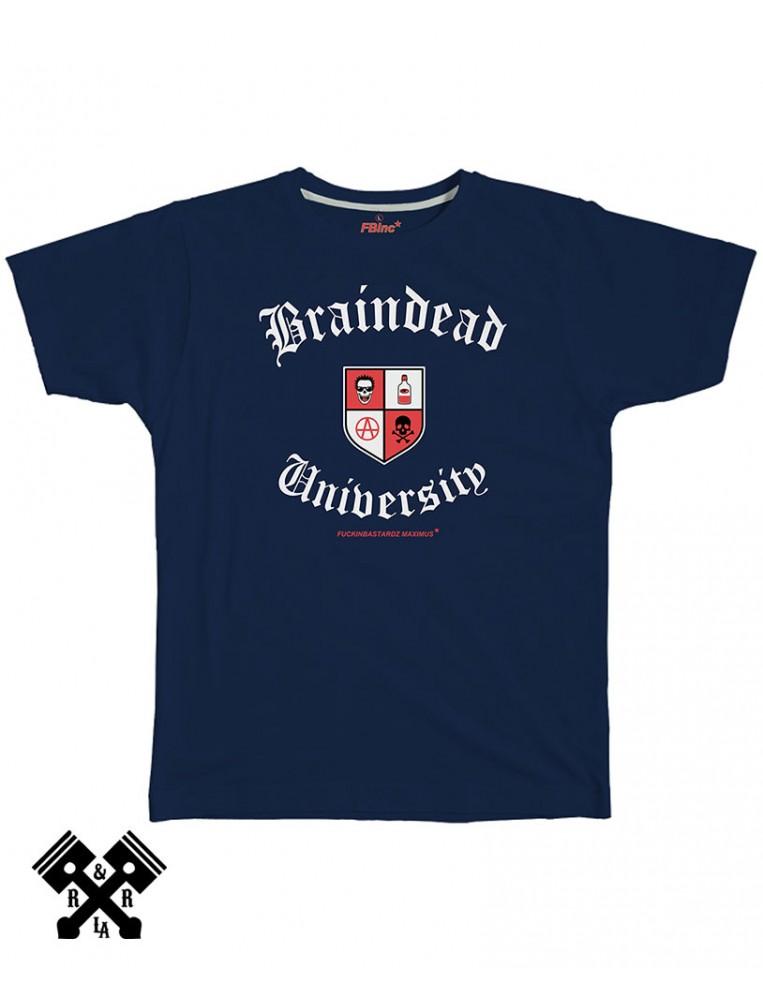 Camiseta BrainDead University, color azul, marca FBI