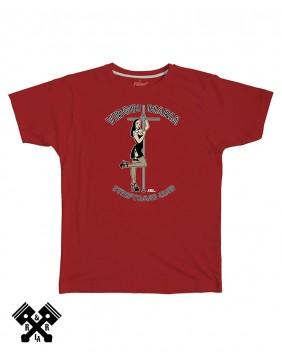 Camiseta VIrgin Maria color rojo, marca FBI