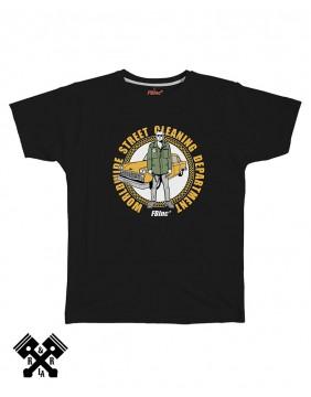 Camiseta Street Cleaner negra, marca FBI