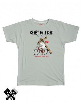 FBI Camiseta Christ on a Bike gris, marca FBI