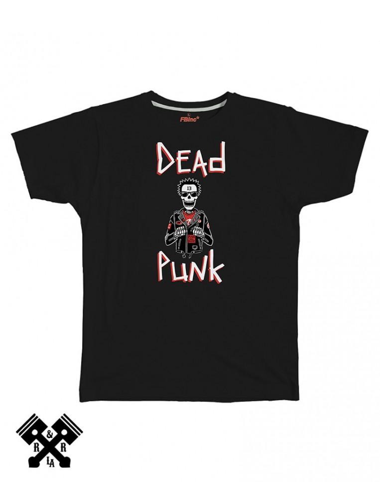 Camiseta negra, Dead Punk, marca FBI