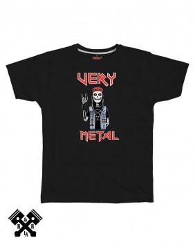 Camiseta negra, Very Metal, marca FBI
