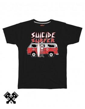 Camiseta Suicide Surfer negra, marca FBI