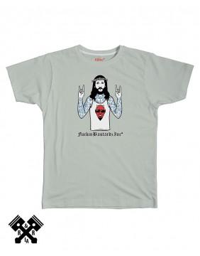 Camiseta Satan Fan gris, marca FBI