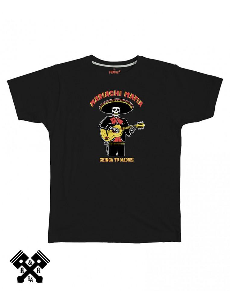 Camiseta Mariachi Mafia negra, marca FBI