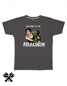 Camiseta Freak Show gris oscuro, marca FBI