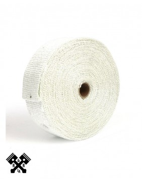 """Exhaust Insulating Wrap 2"""" White"""