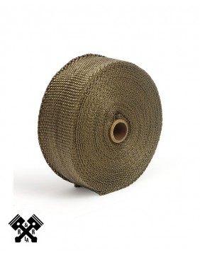 """Exhaust Insulating Wrap 2"""" Copper"""