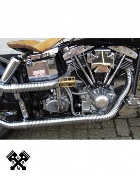 Flexible Exhaust Header Cover Chrome, example