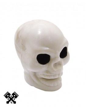 White Skull Valve Stem Caps