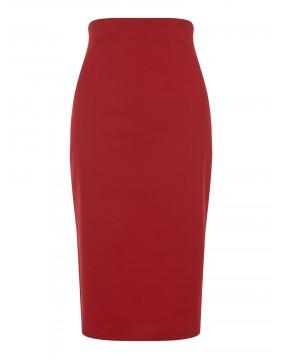Falda Tubo Roja Fiona Lisa, marca Collectif, vista de frente