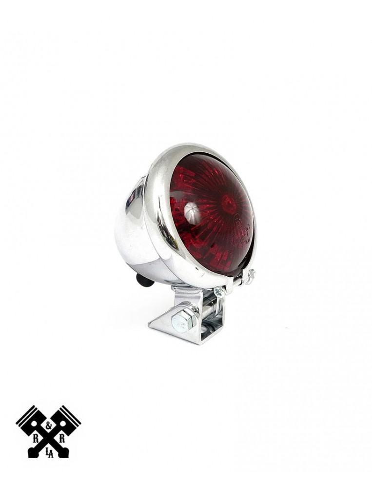 Bates Style Universal LED Tail Light Chrome
