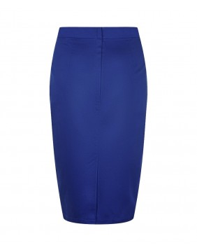 Collectif Polly Classic Blue Pencil Skirt, back view