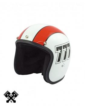 Bandit Jet Helmet 777 White / Orange front