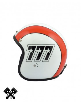 Bandit Jet Helmet 777 White / Orange left