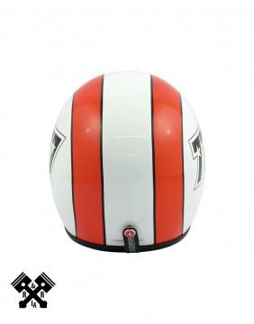 Bandit Jet Helmet 777 White / Orange back