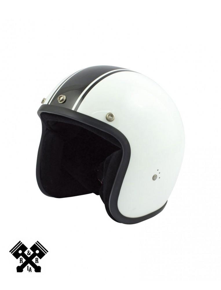 Casco Bandit Jet Blanco/Negro, frontal