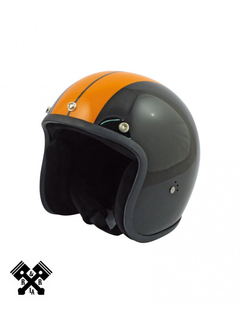 Casco Bandit Jet Race Negro / Naranja frontal
